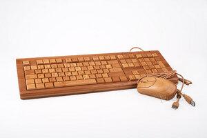 Tastatur und Maus aus Bambus im Set - Bamboo Keyboard und Mouse - Vollholz - BambooTech