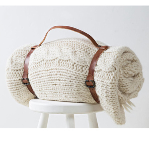 Grannies Chunky Knit Plaid Lima 130x180 cm - Yumeko