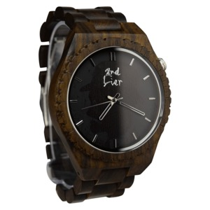 Handgemachte Armbanduhr aus Holz ⚒ Holzuhr ⚒ vegan ⚒ fair produziert - 2nd Liar