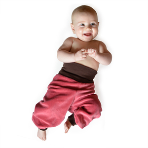 Baby Nickihose altrosa/braun - Cmig