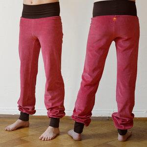 Yoga- und Wohlfühlhose aus Nicki altrosa/braun - Cmig