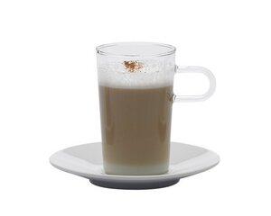 2 Stück Kaffeeglas COSTA II, 0.25l mit Porzellan-Unterteller - Trendglas Jena