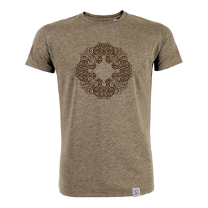 Buddha OWL - Siebdruck T-Shirt M - beige - Sacred Designs