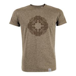 Buddha OWL - Siebdruck T-Shirt M - beige - Sacred Designs