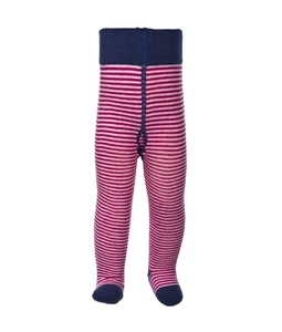 Baby Strumpfhose pink/geringelt Bio - People Wear Organic