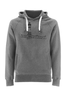Papierhafen Unisex Hoodie Organic Fair Wear _grey - ilovemixtapes