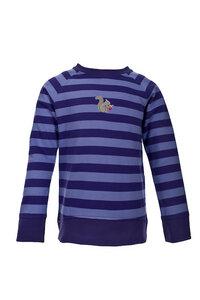 Sweatshirt - violett geringelt - People Wear Organic