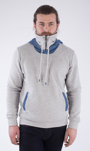 MOR-2204 HERREN DENIM ZIPPER HOODIE - ORGANICATION