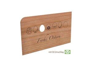 Holzpost Grußkarte Frohe Ostern - holzpost