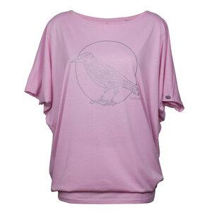Oversized Shirt 'Rabe Mut' Rosa - Qwatslama