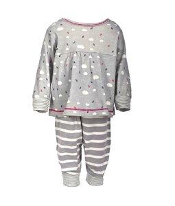 Baby Schlafanzug grau/gemustert Bio Baumwolle - People Wear Organic