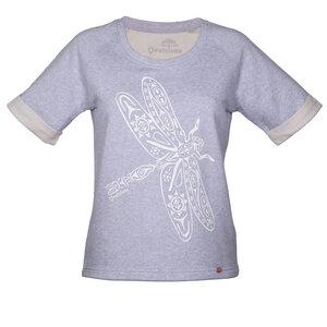 Kurzarm-Sweatshirt 'Libelle Wandel' Blau - Qwatslama