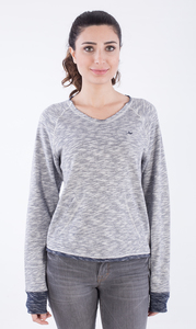 WOR-2134 DAMEN FLAMME JERSEY SWEATSHIRT - ORGANICATION