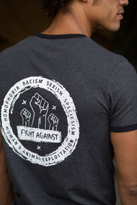 Róka - Männer T-Shirt 'fight against' - Róka - fair clothing
