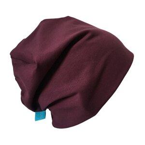 Mütze 'Line' aubergine - bingabonga