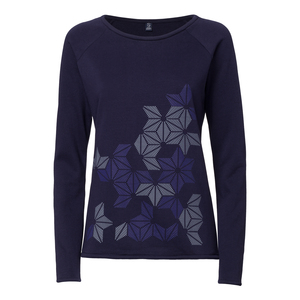 ThokkThokk Stars Sweater Woman Midnight   - THOKKTHOKK