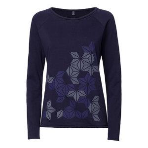 ThokkThokk Stars Sweater Woman Midnight   - THOKKTHOKK
