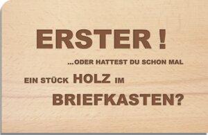 "Holzpostkarte ""Erster"" - holzpost"