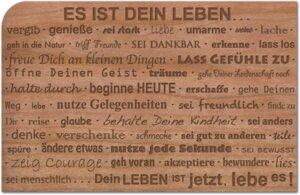Postkarte aus Holz 'Es ist Dein Leben' - holzpost
