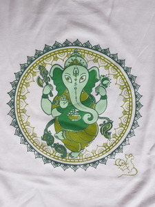 Herren Yoga T-Shirt Ganesha - BAGHI
