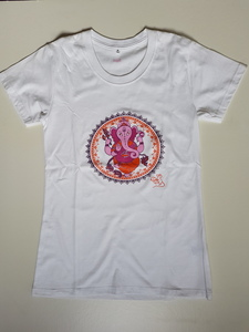 Yoga T-Shirt pink Ganesha - BAGHI