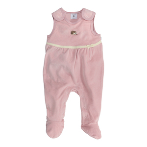 Nicki-Strampler für Baby-Mädchen, alt-rosé 100% Bio-Baumwolle - luftagoon