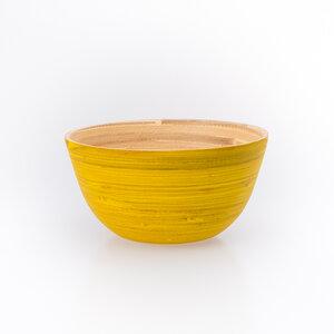 Bambusschälchen gelb * Schale aus Bambus - Bea Mely
