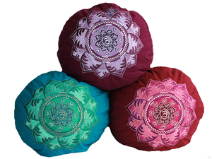 Meditationskissen rund OM Mandala - BAGHI