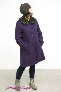 LISA, Mantel in pflaumenfarben aus reiner Schurwolle - Johanna Binger natürlich weiblich