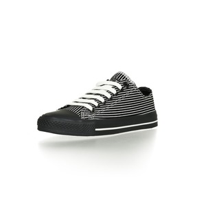 Black Cap Lo Cut Collection Black with White Pinstripes | Jet Black - Ethletic