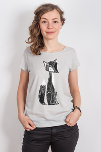 Keregan* – Lovely Fox - Ladies Organic Tencel T-Shirt - Nikkifaktur