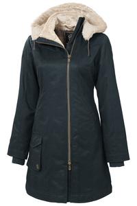 Ladies' Long HoodLamb Coat - Midnite Blue - Hoodlamb