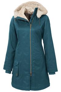 Ladies' Long HoodLamb Coat - Ocean Blue - Hoodlamb