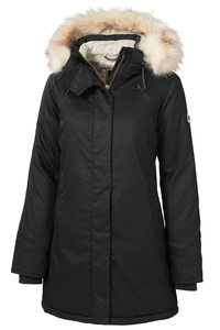 Ladies' Nordic Parka - Black - Hoodlamb