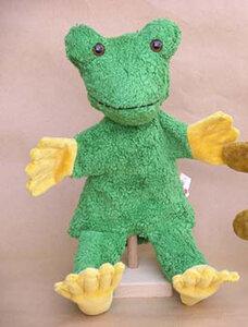 Handpuppe Frosch VEGAN - Kallisto