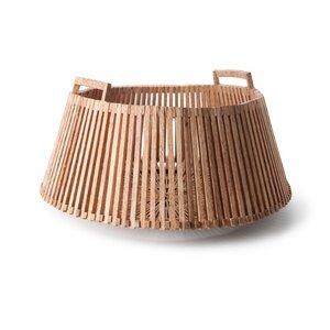 großer Korb aus Palmholz - Fair Trade Original