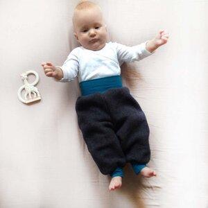 Baby Fleece Gemütlichkeitshose anthrazit - bingabonga