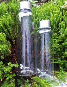 Glasflasche 360ml mit Edelstahldeckel - Made Sustained