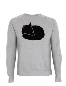 Fuchs Unisex Sweatshirt / Bio & Fair Wear GRAU  - ilovemixtapes