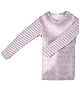 Mädchen Unterhemd LA rosa/grau geringelt - iobio