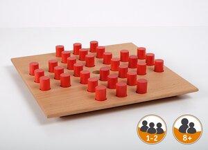 Edles Holzspiel Solitaire - Holzzylinder  ab 8 Jahren - Gerhards Spiel & Design