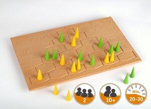 Edles Holzspiel RAUF!en von Patrick Ehnis und Gerald Schropp ab 10  - Gerhards Spiel & Design