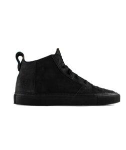 Argan Mid Schwarzes Leder  - ekn footwear