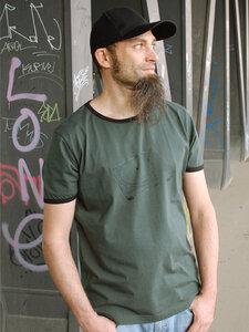 Plattenspieler grüngrau/schwarz Boy-T-Shirt - Shirtlab