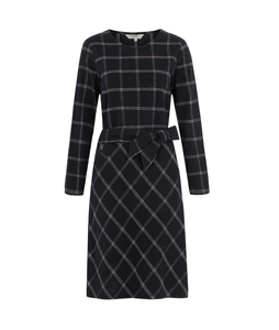 Rosita Checked Dress Navy - People Tree