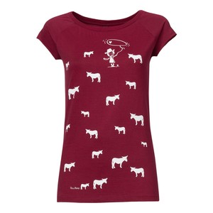 FellHerz Donkey Girl Cap Sleeve white/ruby - FellHerz