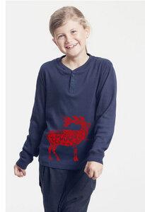 Bio-Kinder-Langarmshirt mit Harry Hirsch - Peaces.bio - Neutral® - handbedruckt