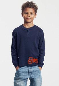Bio-Kinder-Langarmshirt mit Traktor Herbert - Peaces.bio - Neutral® - handbedruckt