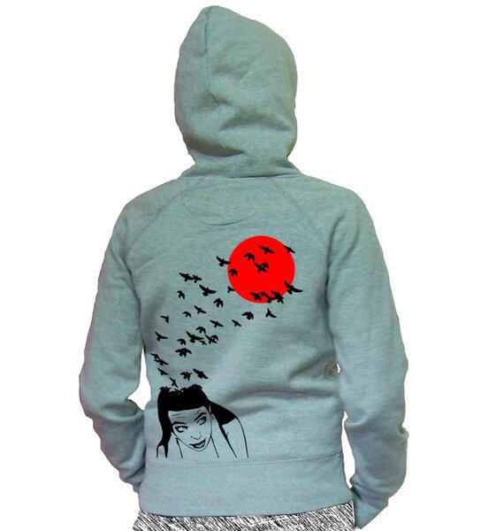 sweet diraction hoodie die gedanken sind frei tailliert. Black Bedroom Furniture Sets. Home Design Ideas