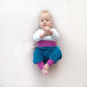 Baby Gemütlichkeitshose petrol/flieder - bingabonga